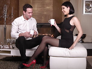 Nylon, heels & tasty toes