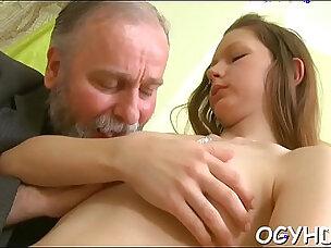 Old dude fucks juvenile moist pussy