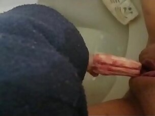Pissing in the toilet and playing with bloody tampons compilation