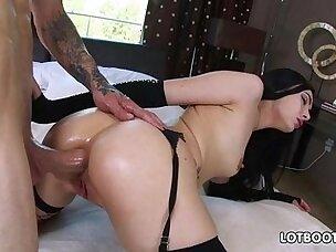 Juicy ass brunette Marley Brinx gets fucked deep hard anal fuck for money
